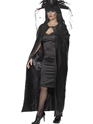 Deluxe Black Witches Cape Thumbnail