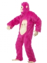 Adult Deluxe Pink Gorilla Costume  - Back View - Thumbnail