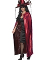 Deluxe Red and Black Reversible Witches Cape Thumbnail