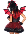 Adult Demon Dragon Costume  - Back View - Thumbnail