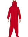 Adult Devil Onesie Costume  - Side View - Thumbnail