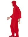 Adult Devil Onesie Costume  - Back View - Thumbnail