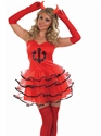 Adult Devil Tutu Costume  - Back View - Thumbnail