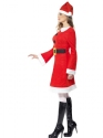Adult Miss Santa Costume  - Back View - Thumbnail