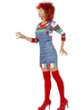 Adult Female Chucky Costume  - Back View - Thumbnail