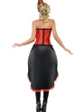 Adult Red Burlesque Dancer Costume  - Side View - Thumbnail