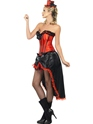 Adult Red Burlesque Dancer Costume  - Back View - Thumbnail