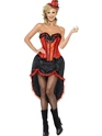 Adult Red Burlesque Dancer Costume Thumbnail