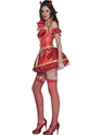 Adult Fever Boutique 5 piece Devil Costume  - Back View - Thumbnail