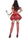 Adult Fever Boutique 5 piece Devil Costume  - Side View - Thumbnail