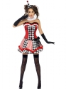 Adult Fever Boutique Clown Cutie Costume  - Back View - Thumbnail