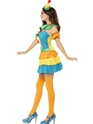 Adult Fever Colourful Clown Cutie Costume  - Back View - Thumbnail