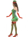 Adult Fever Elf Sequin Costume  - Back View - Thumbnail
