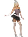 Adult Fever Fringe Stripe Burlesque Costume  - Side View - Thumbnail