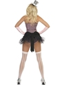 Adult Fever Fringe Stripe Burlesque Costume  - Back View - Thumbnail