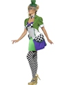 Adult Fever Miss Hatter Costume  - Side View - Thumbnail