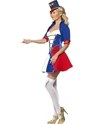 Adult Fever Naughty Nutcracker Costume  - Side View - Thumbnail