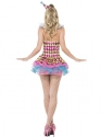 Adult Fever Neon Harlequin Clown Costume  - Side View - Thumbnail