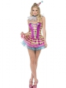 Adult Fever Neon Harlequin Clown Costume Thumbnail