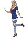 Adult Fever Pin Up Ahoy Sailor Costume  - Back View - Thumbnail