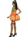 Adult Fever Pumpkin Costume  - Side View - Thumbnail