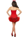 Adult Fever Red Devil Costume  - Side View - Thumbnail