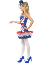 Adult Fever Rule Britannia Union Jack Costume  - Side View - Thumbnail