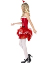 Adult Fever Santa TuTu Costume  - Back View - Thumbnail