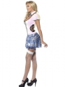 Adult Fever School Girl Bling Costume  - Back View - Thumbnail