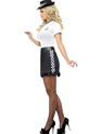 Adult Fever UK Policewoman Costume  - Back View - Thumbnail