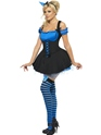 Adult Fever Wicked Witch Blue Costume  - Back View - Thumbnail