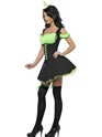 Adult Fever Wicked Witch Green Costume  - Side View - Thumbnail