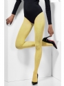 Fever Yellow Opaque Tights  - Side View - Thumbnail