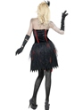 Adult Fever Zombie Burlesque Costume  - Side View - Thumbnail