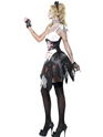 Adult Fever Zombie French Maid Costume  - Back View - Thumbnail