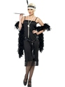 Adult Flappers Dress Black Thumbnail