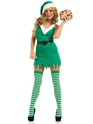Adult Flirty Elf Costume  - Back View - Thumbnail