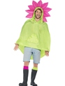 Flower Party Poncho Festival Costume  - Back View - Thumbnail