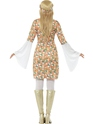Adult Ladies Flower Power Costume  - Side View - Thumbnail