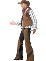 Adult Fringe Cowboy Costume  - Back View - Thumbnail