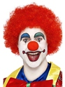 Crazy Clown Wig Red  - Back View - Thumbnail