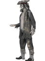Adult Ghost Ship Ghoul Costume  - Back View - Thumbnail