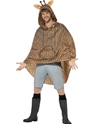 Giraffe Party Poncho Festival Costume  - Back View - Thumbnail