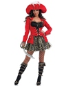 Adult Glitzy Pirate Costume  - Back View - Thumbnail