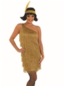 Adult Gold Flapper Dress Costume Thumbnail