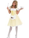 Adult Goldilocks Long Dress Costume  - Back View - Thumbnail