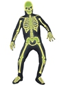 Adult Glow in the Dark Bones Costume  - Back View - Thumbnail