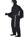 Adult Black Grim Reaper Costume  - Back View - Thumbnail