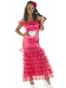 Adult Gypsy Wedding Pink Bridesmaid Costume Thumbnail