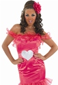 Adult Gypsy Wedding Pink Bridesmaid Costume  - Back View - Thumbnail